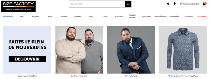 site SizeFactory spécialisé