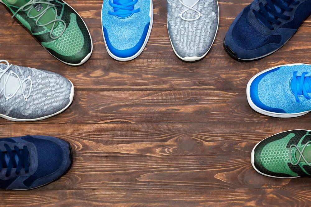 vue aérienne sneakers
