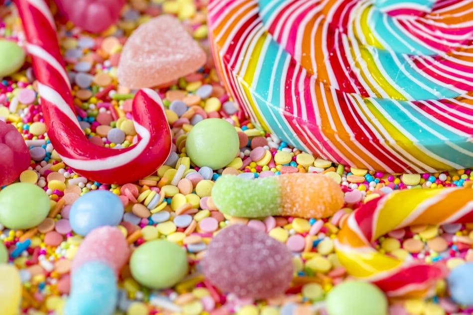 bonbons sucrés mauvais pour les dents